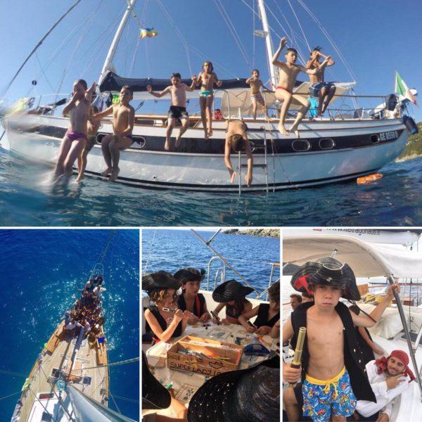 Bimbi in ufficio - Campus Aziendale in Barca a vela