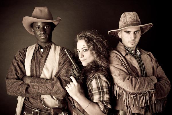 Tre cowboy