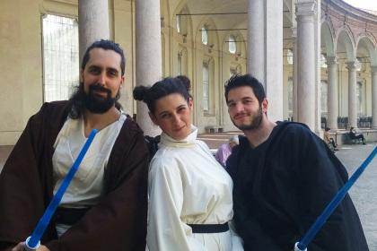 Gruppo di Jedi e Principessa Leila