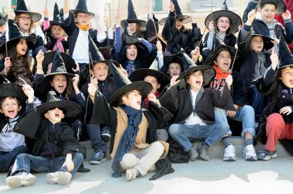 Giovani maghi studenti di Hogwarts