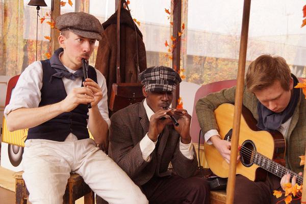 Suonatori di flauto e chitarra