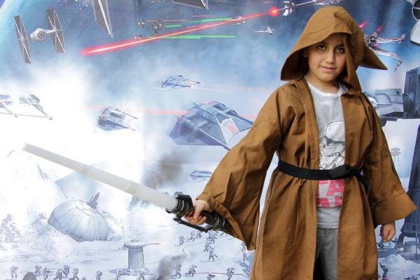Un giovane Padawan pronto a combattere