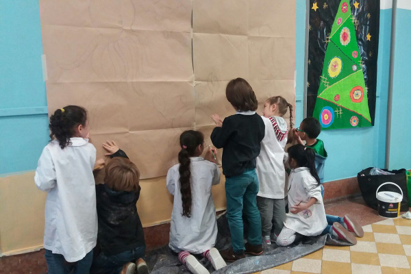 Giovani pittori all'opera