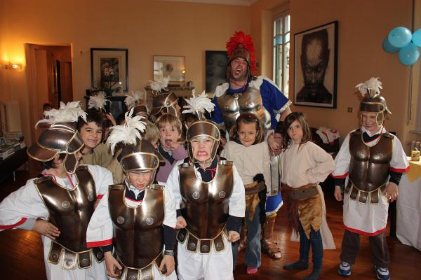 Giovani truppe romane pronte per la battaglia