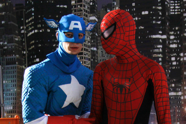Capitan America e Spiderman